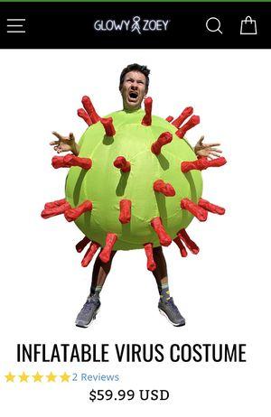 Virus and hazmat suit Halloween costume for Sale in Hoffman Estates, IL