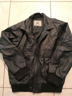 BURK'S BAY A1 BLACK BOMBER JACKET for Sale in Brownsville, TX