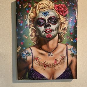 Marilyn Muerta Canvas Print By Francisco Franco for Sale in San Jose, CA