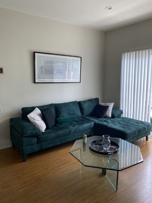 Green couch for Sale in Los Angeles, CA