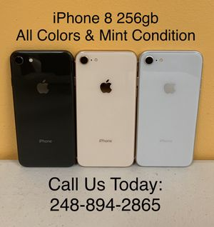Sale: Unlocked iPhone 8 256gb Used All Colors Excellent Condition for Sale in Pleasant Ridge, MI
