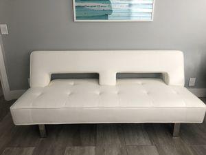 Futon sofa white almost new for Sale in Weston, FL