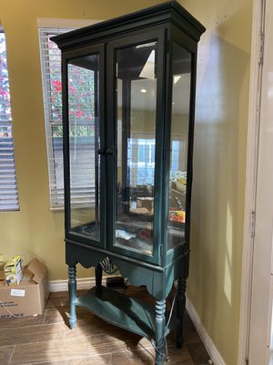 Green Curio Cabinet for Sale in Downey, CA