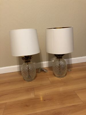 Pineapple Lamps- $30 for Sale in Martinez, CA