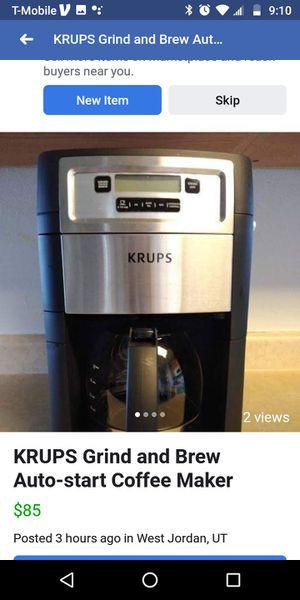 Krups Grind N Brew coffee maker for Sale in Kearns, UT