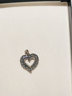 Heart Pendant With Blue Jewels for Sale in Reston,  VA