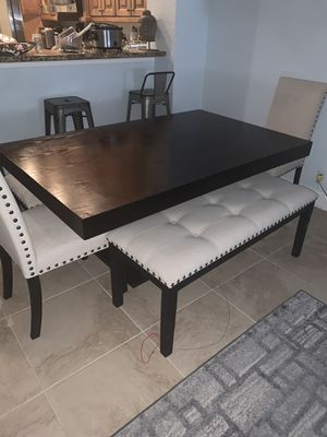 Dark wood Kitchen Table and sever for Sale in Riviera Beach, FL