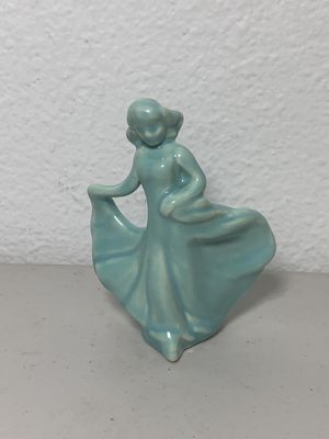Lady Figurine Blue Pottery Porcelain Figure Princess Cake Topper Wedding VTG for Sale in Hillsboro, OR