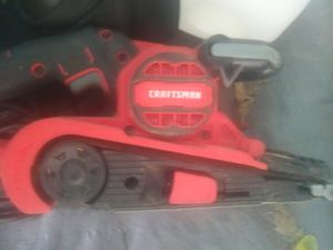 Craftsman tools air nail gun , cord beltsander and Dremel with hundred attachments for Sale in Lancaster, OH