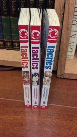 Tactics manga 3-5 for Sale in San Antonio, TX