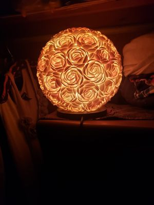 Antique beautiful handmade shell lamp for Sale in Honolulu, HI