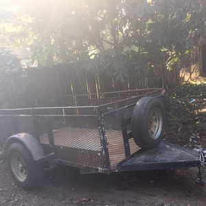 5x8 Heavy duty trailer W/ ramp gate for Sale in Stockton, CA