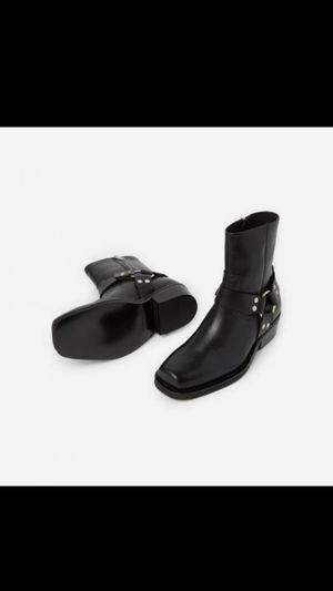 Men's Leather Boots with buckle (kooples) for Sale in Alexandria, VA