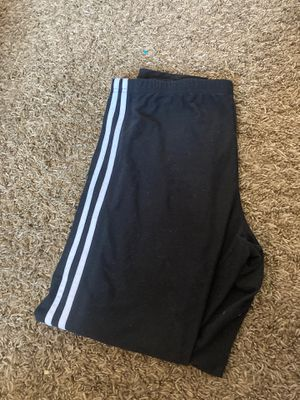 Black leggings with two white lines down leg size extra-large for Sale in Bonney Lake, WA