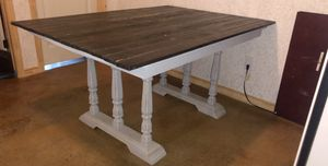 Farmhouse kitchen table with 6 chairs for Sale in Grandview, TX