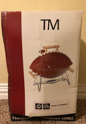 * Brand New in Box! ** TM Charcoal Football Grill Condition:New for Sale in Garland, TX