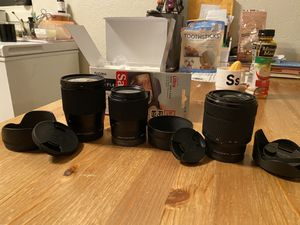 Sony camera and lenses for Sale in Corte Madera, CA