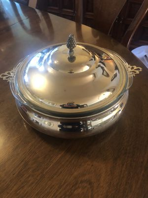 Silverplated Serving Dish with Pyrex Glass Bowl insert for Sale in Shoreline, WA
