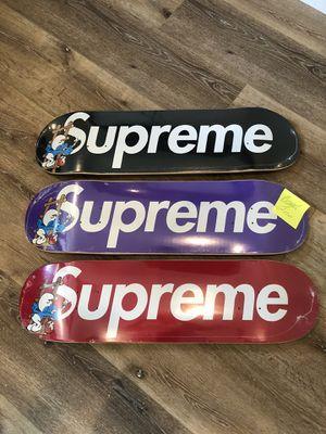 Smurf x Supreme Deck Set for Sale in La Habra Heights, CA