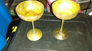 Antique wine glasses made out of copper for Sale in Tampa, FL