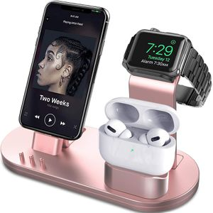 OLEBR 3 in 1 Charging Stand Compatible with iWatch Series 6/SE/5/4/3/2/1, AirPods Pro and iPhone Series 12/11 Series/Xs/X Max/XR/X/8/ 8P/7/7P/6S/6S Pl for Sale in Detroit, MI