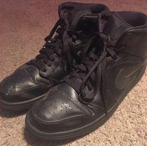 Jordan 1's all black size 12 for Sale in Murray, UT