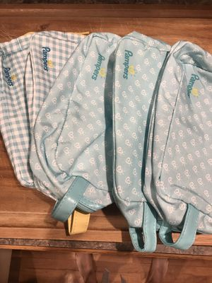Pampers storage bags 5 total for Sale in Lexington, KY