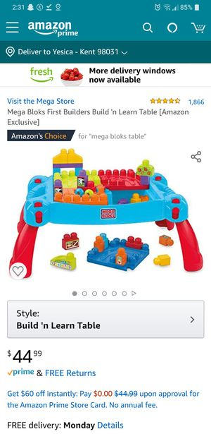 Mega Bloks table and Wagon for Sale in Kent, WA