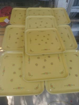 10-Vintage Tin Trays for Sale in Indianapolis, IN