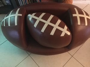 Football chair and ottoman for Sale in Boca Raton, FL