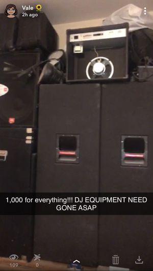 DJ equipment Speakers, lights, etc for Sale in Lewisville, TX