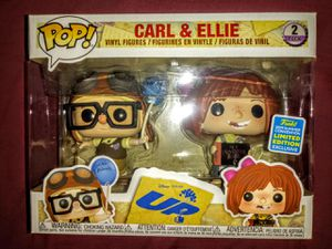 "Disney UP ""Carl & Ellie"" San Diego Comic Con Box Lunch Exclusive Funko Pop 2pack for Sale in Los Angeles, CA"