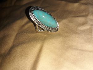 Big Turquoise Silver Ring, Size 7. for Sale in Dallas, TX