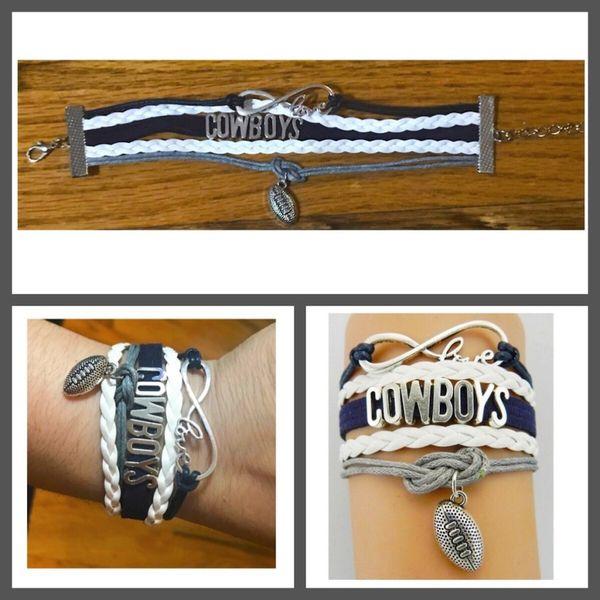 Dallas Cowboys Suede Multi-Strand Charm Bracelet