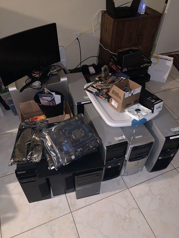 Random lot of computer parts.