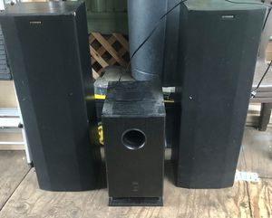 2 fisher speakers & onkyo// new tweeters on the fisher speakers for Sale in Wood Village, OR