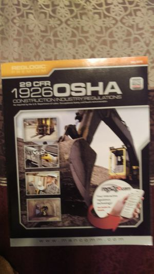 29 CFR 1926 OSHA Construction Regulations, July 2015 edition for Sale in Tempe, AZ
