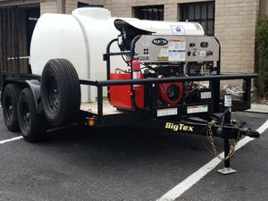 Lightly used hot water pressure washer trailers for Sale in San Antonio, TX