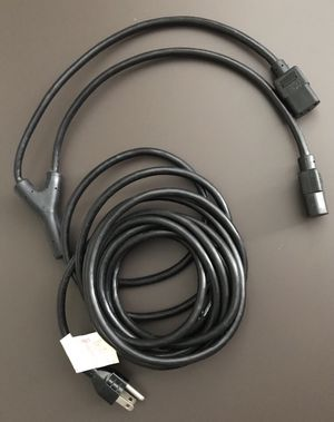 16feet AC power Cord Y Splitter Cable Nema 5-15 to 2x IEC C13 for Sale in Chicago, IL