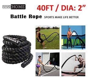"VIVIHOME Black 2"" X 40' Workout Training Rope - Originally: $80 for Sale in Alexandria, VA"