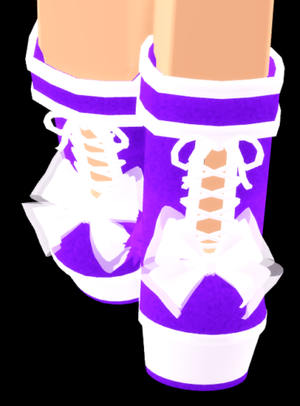 Roblox Royale high Adorable lace up boots (virtual item) for Sale in Independence, KS