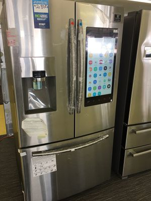 Brand New Samsung Family Hub Frech Door Refrigerador With Warranty No Credit Needed Just $54 De Enganche You Take Home for Sale in Garland, TX
