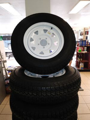 205/75D15 bias ply trailer tire and rim for Sale in Bartow, FL