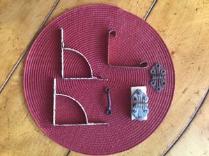 Vintage Antique Lot Hinges, Hangers, Shelf Brackets for Sale in Scottsdale, AZ