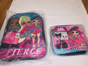 Girls LOL book bag with lung bag for Sale in Cleveland, OH
