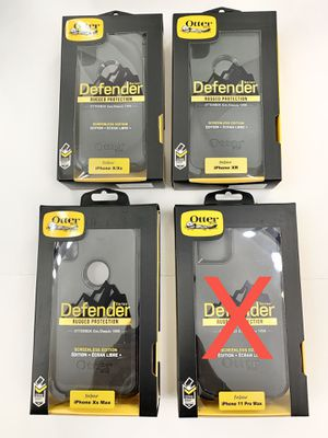 iPhone X, Xs, XR, Xs Max - OtterBox Defender Case. Belt Clip/Holster. Black. for Sale in Santa Clarita, CA