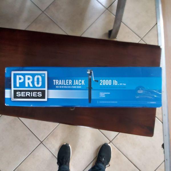 New A Frame trailer jack