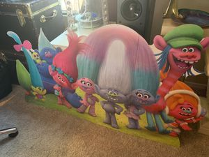 Trolls cardboard stand up for party for Sale in Glendale, AZ