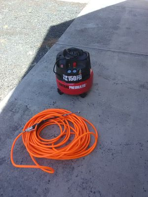 6 gal compressor with 100' of hose included. for Sale in Eugene, OR