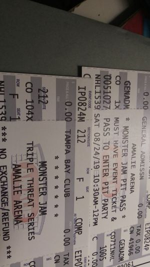 Monster Jam triple threat for Sale in Tampa, FL